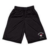 Midcourt Performance Black 9 Inch Game Short-Arched Checkers Design
