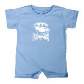 Light Blue Infant Romper-Charlotte Checkers - Offical Logo