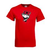 Red T Shirt-Bear Head w/ Flag