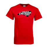 Red T Shirt-Charlotte Checkers Hockey in State