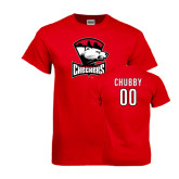 Red T Shirt-Charlotte Checkers - Offical Logo