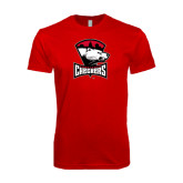 SoftStyle Red T Shirt-Charlotte Checkers - Offical Logo