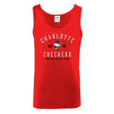 Red Tank Top-Charlotte Checkers AHL Design