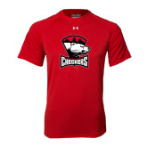 Under Armour Red Tech Tee-Charlotte Checkers - Offical Logo