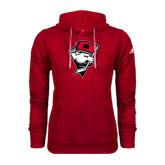 Adidas Climawarm Red Team Issue Hoodie-Bear Head w/ Flag