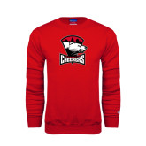 Red Fleece Crew-Charlotte Checkers - Offical Logo