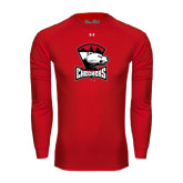 Under Armour Red Long Sleeve Tech Tee-Charlotte Checkers - Offical Logo