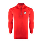 Under Armour Red Tech 1/4 Zip Performance Shirt-Charlotte Checkers - Offical Logo