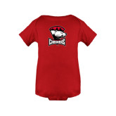 Red Infant Onesie-Charlotte Checkers - Offical Logo