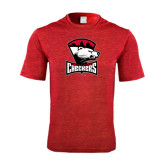 Performance Red Heather Contender Tee-Charlotte Checkers - Offical Logo