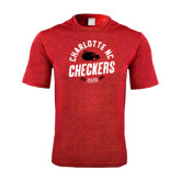 Performance Red Heather Contender Tee-Charlotte NC Est 2010