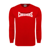 Red Long Sleeve T Shirt-Charlotte Checkers