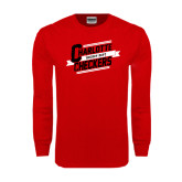 Red Long Sleeve T Shirt-Charlotte Checkers Hockey Dept