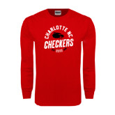 Red Long Sleeve T Shirt-Charlotte NC Est 2010