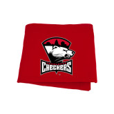 Red Sweatshirt Blanket-Charlotte Checkers - Offical Logo