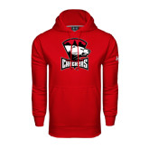 Under Armour Red Performance Sweats Team Hood-Charlotte Checkers - Offical Logo