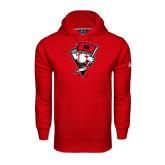 Under Armour Red Performance Sweats Team Hood-Bear Head w/ Flag