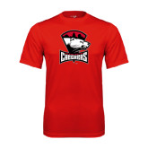 Syntrel Performance Red Tee-Charlotte Checkers - Offical Logo