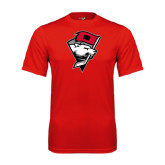 Syntrel Performance Red Tee-Bear Head w/ Flag