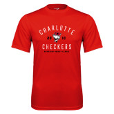 Syntrel Performance Red Tee-Charlotte Checkers AHL Design