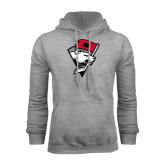 Grey Fleece Hood-Bear Head w/ Flag