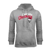 Grey Fleece Hood-Charlotte Checkers Script Distressed
