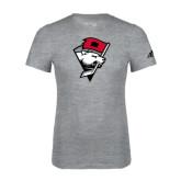 Adidas Sport Grey Logo T Shirt-Bear Head w/ Flag