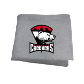 Grey Sweatshirt Blanket-Charlotte Checkers - Offical Logo