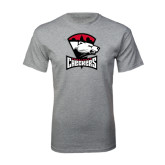 Sport Grey T Shirt-Charlotte Checkers - Offical Logo