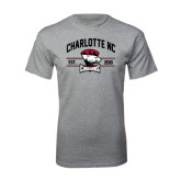 Sport Grey T Shirt-Arched Charlotte NC Est 2010 Stacked