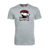 Next Level SoftStyle Heather Grey T Shirt-Charlotte Checkers - Offical Logo