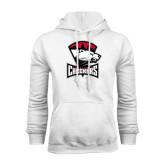 White Fleece Hood-Charlotte Checkers - Offical Logo