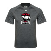 Under Armour Carbon Heather Tech Tee-Charlotte Checkers - Offical Logo