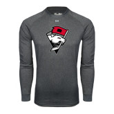 Under Armour Carbon Heather Long Sleeve Tech Tee-Bear Head w/ Flag