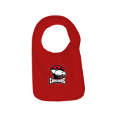 Red Baby Bib-Charlotte Checkers - Offical Logo