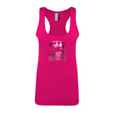 Next Level Ladies Raspberry Ideal Racerback Tank-Charlotte Checkers - Offical Logo Foil