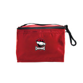 Six Pack Red Cooler-Charlotte Checkers - Offical Logo