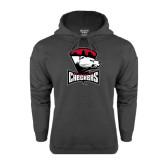 Charcoal Fleece Hood-Charlotte Checkers - Offical Logo
