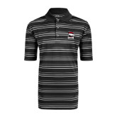 Adidas Climalite Black Textured Stripe Polo-Charlotte Checkers - Offical Logo