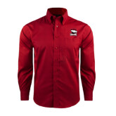 Red House Red Long Sleeve Shirt-Charlotte Checkers - Offical Logo