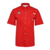 Columbia Bonehead Red Short Sleeve Shirt-Charlotte Checkers - Offical Logo