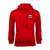 Red Fleece Hood-Charlotte Checkers - Offical Logo