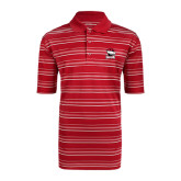 Adidas Climalite Red Textured Stripe Polo-Charlotte Checkers - Offical Logo