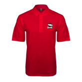 Red Easycare Pique Polo-Charlotte Checkers - Offical Logo