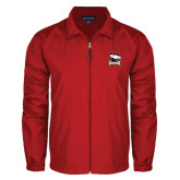 Full Zip Red Wind Jacket-Charlotte Checkers - Offical Logo