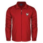 Full Zip Red Wind Jacket-Bear Head w/ Flag
