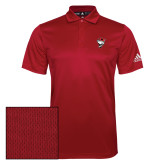 Adidas Climalite Red Game Time Polo-Bear Head w/ Flag