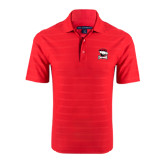 Red Horizontal Textured Polo-Charlotte Checkers - Offical Logo