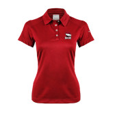 Ladies Nike Dri Fit Red Pebble Texture Sport Shirt-Charlotte Checkers - Offical Logo