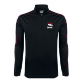 Nike Golf Dri Fit 1/2 Zip Black/Red Cover Up-Charlotte Checkers - Offical Logo